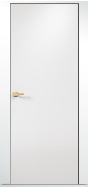 дверь оникс скрытая с отделкой эмаль белая стандартная