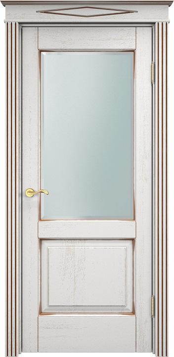 Дверь турин белый дуб с патиной фото