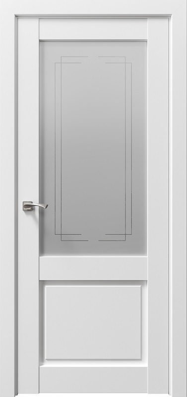 Дверь ДР экошпон Сицилия 90001 снежная королева, сатинато белое