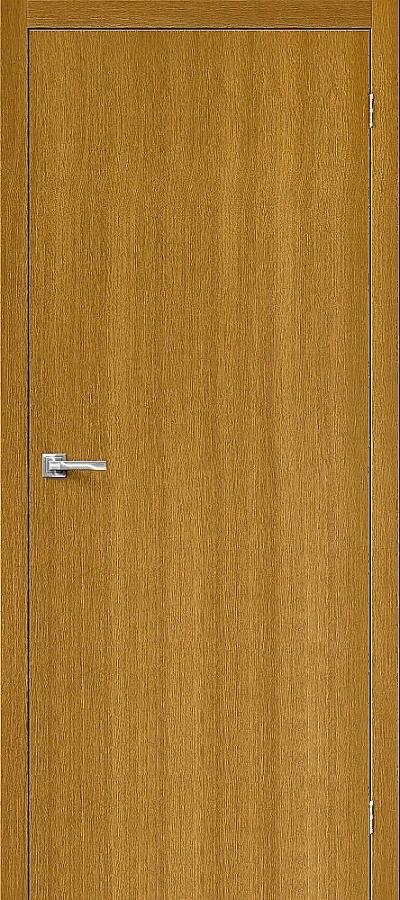 Дверь Браво Вуд Флэт-0V1 дуб натуральный V, глухая