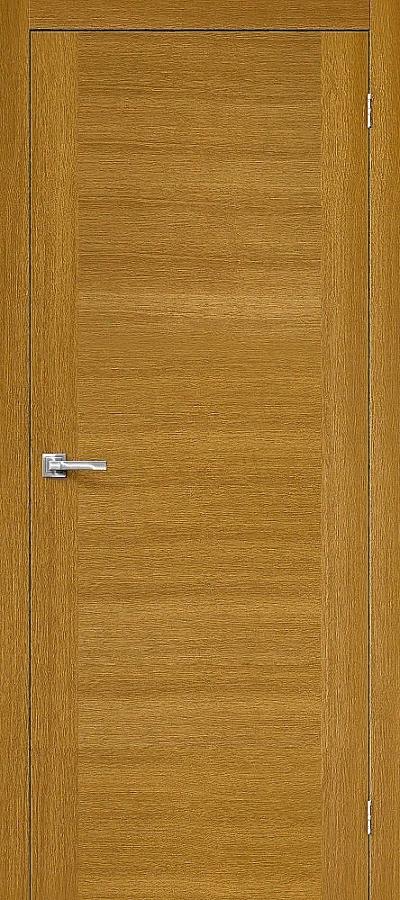 Дверь Браво Вуд Флэт-1V1 дуб натуральный H, глухая